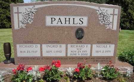 PAHLS, RICHARD F - Portage County, Ohio | RICHARD F PAHLS - Ohio Gravestone Photos