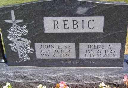 REBIC, IRENE A - Portage County, Ohio | IRENE A REBIC - Ohio Gravestone Photos