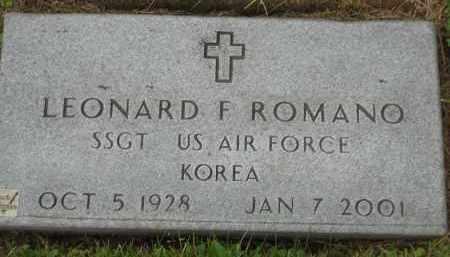 ROMANO, LEONARD F - Portage County, Ohio | LEONARD F ROMANO - Ohio Gravestone Photos