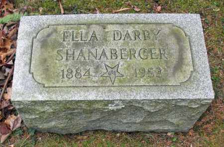 DARBY SHANABERGER, ELLA - Portage County, Ohio | ELLA DARBY SHANABERGER - Ohio Gravestone Photos