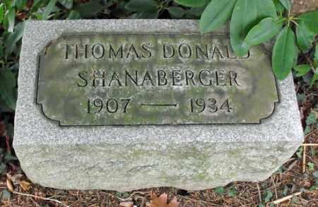 SHANABERGER, THOMAS DONALD - Portage County, Ohio | THOMAS DONALD SHANABERGER - Ohio Gravestone Photos