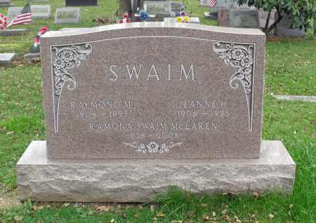 SWAIM, RAYMOND M. - Portage County, Ohio | RAYMOND M. SWAIM - Ohio Gravestone Photos