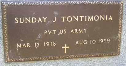 TONTIMONIA, SUNDAY J - Portage County, Ohio | SUNDAY J TONTIMONIA - Ohio Gravestone Photos