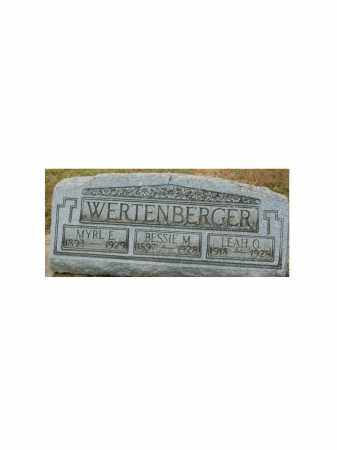 WERTENBERGER, LEAH O - Portage County, Ohio | LEAH O WERTENBERGER - Ohio Gravestone Photos