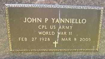 YANNIELLO, JOHN P - Portage County, Ohio   JOHN P YANNIELLO - Ohio Gravestone Photos