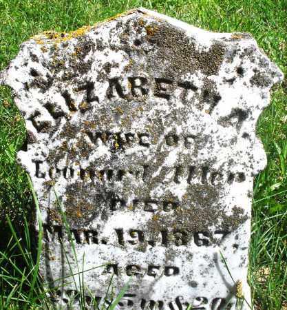 -LLER ?, ELIZABETH A. - Preble County, Ohio | ELIZABETH A. -LLER ? - Ohio Gravestone Photos