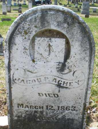 ACHEY, JACOB P. - Preble County, Ohio | JACOB P. ACHEY - Ohio Gravestone Photos