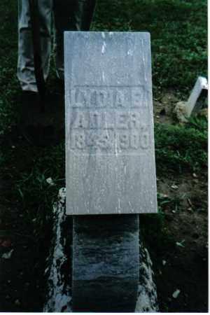 ADLER, LYDIA E. - Preble County, Ohio   LYDIA E. ADLER - Ohio Gravestone Photos
