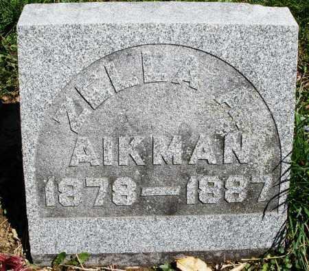 AIKMAN, ZELLA A. - Preble County, Ohio | ZELLA A. AIKMAN - Ohio Gravestone Photos