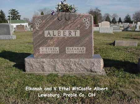MTCASTLE ALBERT, VIRGINIA ETHEL - Preble County, Ohio   VIRGINIA ETHEL MTCASTLE ALBERT - Ohio Gravestone Photos
