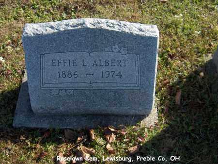 ALBERT, EFFIE - Preble County, Ohio | EFFIE ALBERT - Ohio Gravestone Photos
