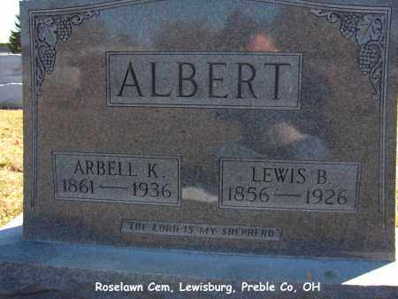 KUNS ALBERT, ARBELL - Preble County, Ohio | ARBELL KUNS ALBERT - Ohio Gravestone Photos