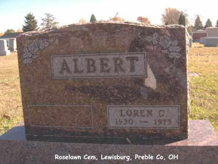 ALBERT, LOREN - Preble County, Ohio | LOREN ALBERT - Ohio Gravestone Photos