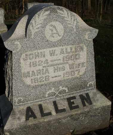 ALLEN, MARIA - Preble County, Ohio | MARIA ALLEN - Ohio Gravestone Photos