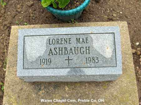 ASHBAUGH, LORENE - Preble County, Ohio | LORENE ASHBAUGH - Ohio Gravestone Photos