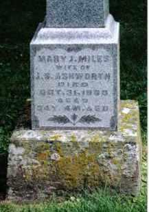 ASHWORTH, MARY J. - Preble County, Ohio   MARY J. ASHWORTH - Ohio Gravestone Photos