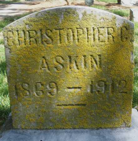 ASKIN, CHRISTOPHER G - Preble County, Ohio | CHRISTOPHER G ASKIN - Ohio Gravestone Photos