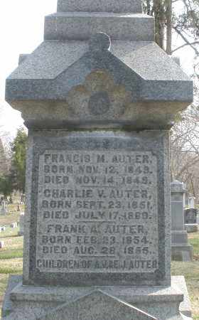AUTER, FRANCIS M. - Preble County, Ohio | FRANCIS M. AUTER - Ohio Gravestone Photos