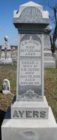 AYERS, E.B. - Preble County, Ohio | E.B. AYERS - Ohio Gravestone Photos