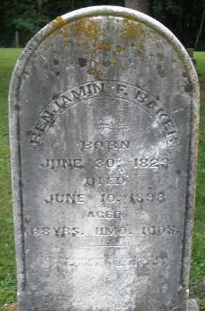BAKER, BENJAMIN F. - Preble County, Ohio | BENJAMIN F. BAKER - Ohio Gravestone Photos