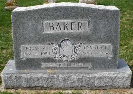 BAKER, EDGAR M. - Preble County, Ohio   EDGAR M. BAKER - Ohio Gravestone Photos