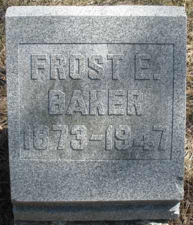 BAKER, FROST E. - Preble County, Ohio   FROST E. BAKER - Ohio Gravestone Photos