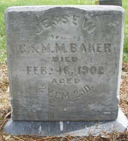 BAKER, JESSE W. - Preble County, Ohio | JESSE W. BAKER - Ohio Gravestone Photos