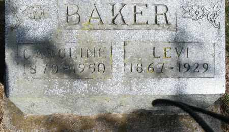 BAKER, CAROLINE - Preble County, Ohio   CAROLINE BAKER - Ohio Gravestone Photos
