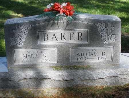 BAKER, WILLIAM D. - Preble County, Ohio | WILLIAM D. BAKER - Ohio Gravestone Photos