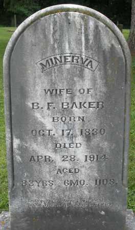 BAKER, MINERVA - Preble County, Ohio | MINERVA BAKER - Ohio Gravestone Photos