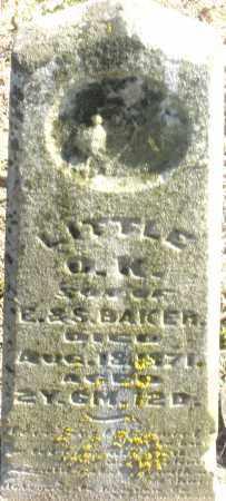 BAKER, O.K. - Preble County, Ohio | O.K. BAKER - Ohio Gravestone Photos
