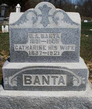 BANTA, CATHARINE - Preble County, Ohio | CATHARINE BANTA - Ohio Gravestone Photos