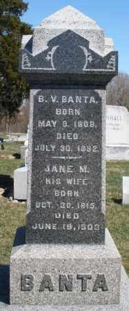 BANTA, B.V. - Preble County, Ohio   B.V. BANTA - Ohio Gravestone Photos