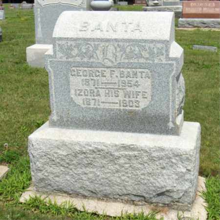WEAVER BANTA, IZORA - Preble County, Ohio | IZORA WEAVER BANTA - Ohio Gravestone Photos