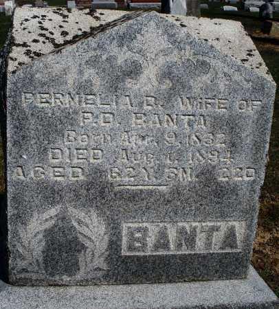 BANTA, PERMELIA D. - Preble County, Ohio   PERMELIA D. BANTA - Ohio Gravestone Photos