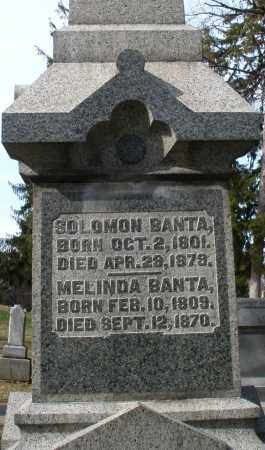 BANTA, SOLOMON - Preble County, Ohio | SOLOMON BANTA - Ohio Gravestone Photos