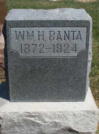 BANTA, WILLIAM H. - Preble County, Ohio | WILLIAM H. BANTA - Ohio Gravestone Photos