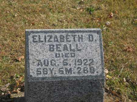 BEALL, ELIZABETH - Preble County, Ohio   ELIZABETH BEALL - Ohio Gravestone Photos