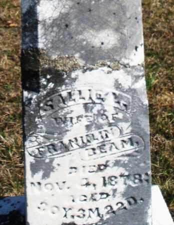 BEAM, SALLIE - Preble County, Ohio   SALLIE BEAM - Ohio Gravestone Photos
