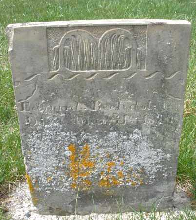 BECHDOLE ?, EDWARD - Preble County, Ohio | EDWARD BECHDOLE ? - Ohio Gravestone Photos