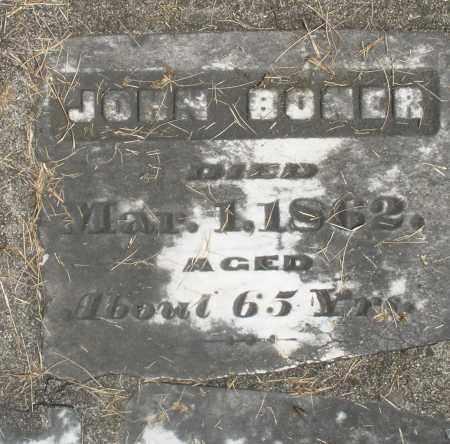 BONER, JOHN - Preble County, Ohio | JOHN BONER - Ohio Gravestone Photos