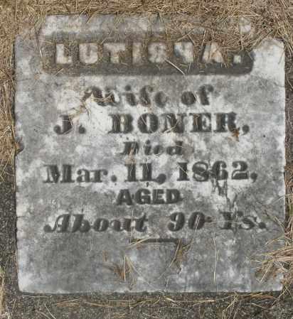 BONER, LUTISHA - Preble County, Ohio | LUTISHA BONER - Ohio Gravestone Photos
