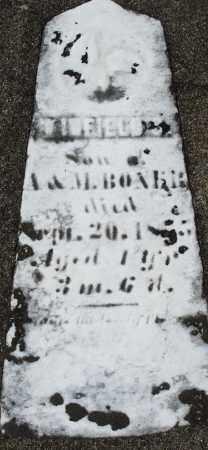BONER, WINFIELD - Preble County, Ohio | WINFIELD BONER - Ohio Gravestone Photos