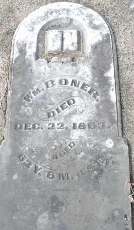 BONER, WILLIAM - Preble County, Ohio   WILLIAM BONER - Ohio Gravestone Photos