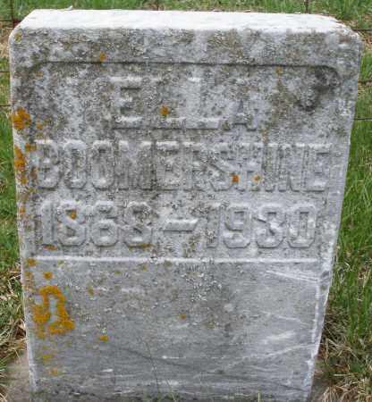 BOOMERSHINE, ELLA - Preble County, Ohio | ELLA BOOMERSHINE - Ohio Gravestone Photos