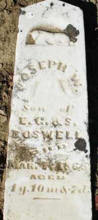 BOSWELL, JOSEPH W. - Preble County, Ohio   JOSEPH W. BOSWELL - Ohio Gravestone Photos