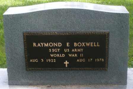 BOXWELL, RAYMOND E. - Preble County, Ohio   RAYMOND E. BOXWELL - Ohio Gravestone Photos