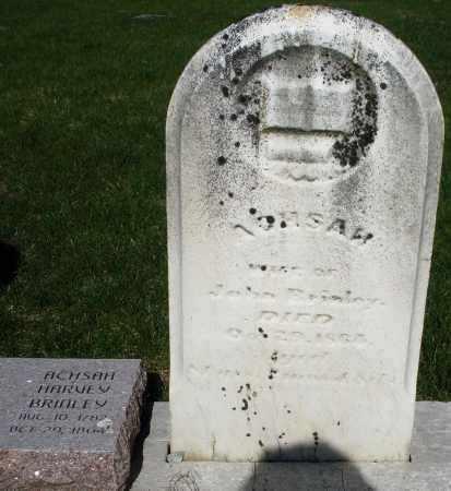 BRINLEY, ACHSAH - Preble County, Ohio   ACHSAH BRINLEY - Ohio Gravestone Photos