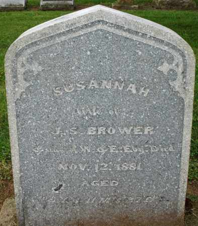 BROWER, SUSANNAH - Preble County, Ohio   SUSANNAH BROWER - Ohio Gravestone Photos