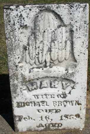 BROWN, MARY - Preble County, Ohio | MARY BROWN - Ohio Gravestone Photos